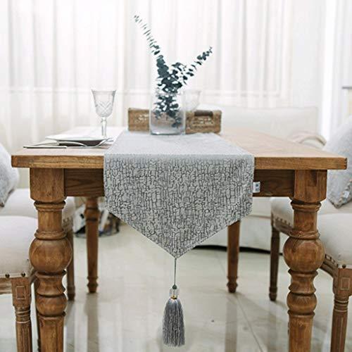 YXN Chenille tafelloper, Spike bedvlag, geschikt voor eettafel, tv-kast, bed