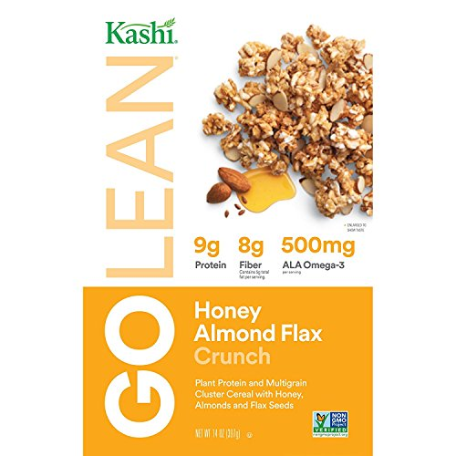 Kashi GO Honey Almond Flax Crunch Breakfast Cereal - Non-GMO | Vegetarian | Bulk Size | 14 Ounce (Pack of 4)
