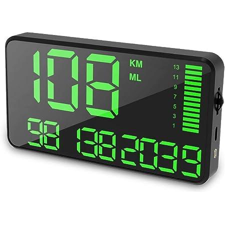 Gps Tachometer Mit Usb Ladekopf Und Übergeschwindigkeits Alarm Für Alle Fahrzeuge Küche Haushalt