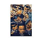 Tupac Biggie Snoop Dogg Poster Dekorative Malerei Leinwand