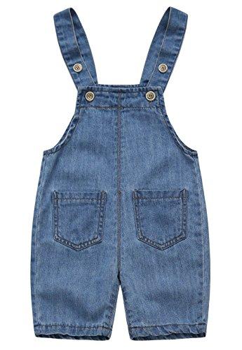 FEOYA Petos Vaqueros Bebé-Niños Cortos Overalls Denim Pantalones Tirantes Jeans Casual 0-3 Años