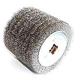 Dibujo De Cepillo De Rueda 1 pieza de máquina de extracción de alambre eléctrico Rueda de cepillo de alambre de acero inoxidable for lacas de madera pulido y rueda de desbarbado