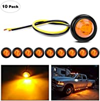 Deal on Nilight Round Clearance LED Front Rear Side Indicator Bullet Marker Light for Truck RV Car Bus Trailer Van...
