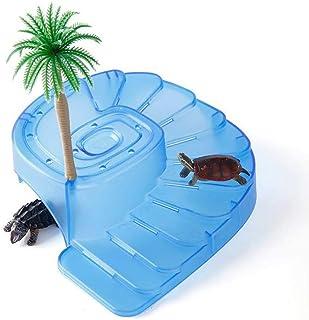 亀 爬行動物 水槽用 飼育ケース内装 木の飾り付き 日なたぼっこ台 プラットフォームと坂道 水槽の飾り