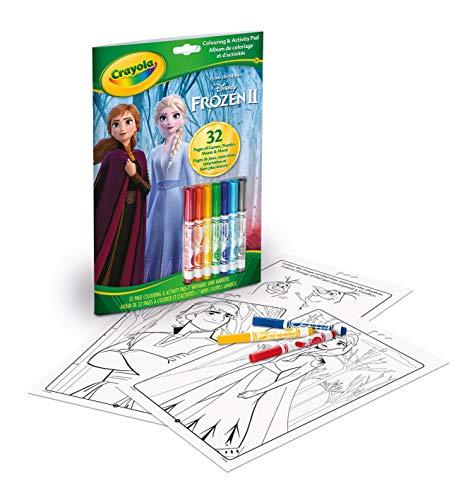 Crayola - Album coloriage et d'activités La Reine des Neiges - Loisir créatif - coloriage - dessins - à partir de 3 ans - Jeu de dessin et coloriage