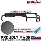 DashSkin Molded Half Dash Cover Compatible with 07-13 Silverado LS/LT & Sierra SL/SLE in Ebony