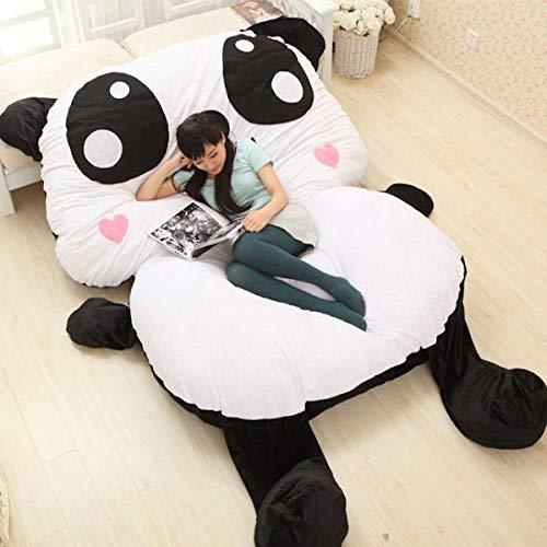Panda Pandabed Cama 170 cm x 135 cm x 45 cm Letto Pouf Gigante Ultra Morbido, Peluche, Regali di Compleanno di Natale