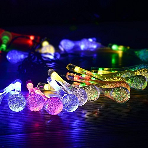 PRIHOME Guirlande lumineuse, LoveChef Guirlande lumineuse LED à piles (5m, Solaire Multicolore)