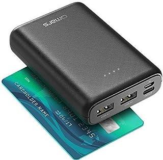 【最新版】モバイルバッテリー 軽量 急速充電 10000mAh 15W USB-C 3.0A 出入力 Micro USB 3.0A 入力 小型軽量 Omars【PSE認証済&高速Type-C 出入力】3台同時充電 2つ入力ポート方法 2つUSB...