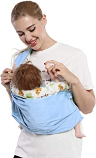 Baby Carrier by Cuby, Natural Cotton Baby Sling Baby Holder Extra Comfortable for Easy Wearing Carrying of Newborn, Infant...