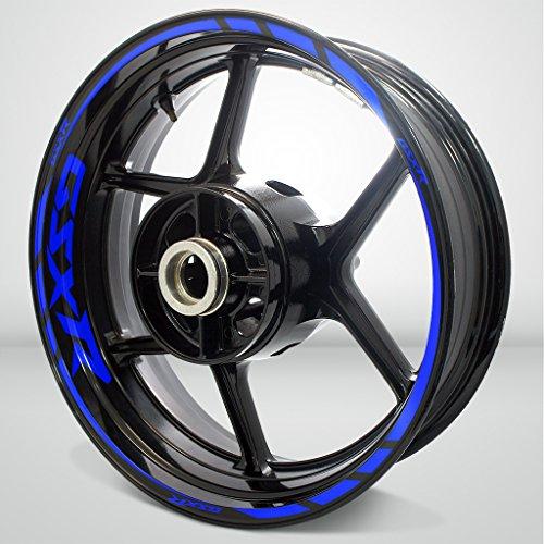 Gloss Blue Motorcycle Rim Wheel Decal Accessory Sticker For Suzuki GSX R
