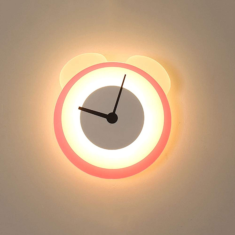 Dicai 8 Watt LED Drei Farbtemperatur Kreative Schne Wandleuchten Eisen Metall Moderne Acryl Wandleuchte Einfache Farbe Wecker Studio Wandleuchte Kindergarten Wei Warmes Licht