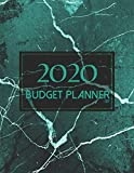 Cash Budget Planner 2020 | Green Marble Theme: Easy Budget Planner Organizer | Debt Budget Planner & Budgeting Planner Weekly, Monthly | Beginner Budget Planner