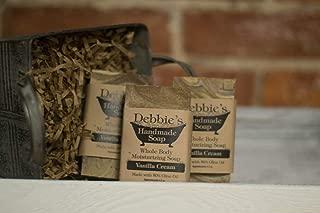 Debbie's Handmade Soap Vanilla Cream Handmade (4 bars)