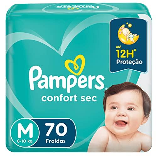 Fralda Pampers Confort Sec Super, M, 70 Unidades
