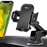 KL2 Soporte de teléfono móvil para coche con ventosa, 4 en 1, universal, para iPhone 11, 11 Pro, Samsung S20, S10, Note10, Huawei Xiaomi, LG, etc.