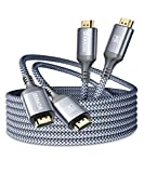4K HDMI Cable 18FT (2Pack), Akoada High Speed 18Gbps Hdmi 2.0 Ethernet-30AWG Cable 4K 60Hz HDR Video HDCP2.2 3D 2160P 1080P ARC Compatible with UHD TV,PS4 / 3,X-Box, Monitor 4K Fire Netflix etc (Grey)