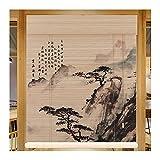 WENZHE Estores Bambú Venecianas Persiana Enrollables, Usable Filtro Luz Ventilación Intimidad Pantalla, Usado para Casa Club Oficina Quedarse Casa Hotel, 2 Estilos (Color : A, Size : 120x300cm)