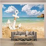 Pared Papel ,200 x 140 Cm,Incluye Pegamento Dormitorio Salon Fotomurales Pared - Ancla Y Playa