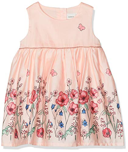 Name It NBFFALLYN Spencer Robe, Rose (Strawberry Cream Strawberry Cream), 56 cm Bébé Fille