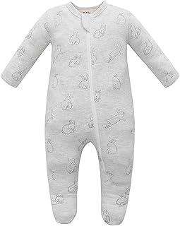 Owlivia Organic Cotton Baby Boy Girl Zip Front Sleep 'N Play, Footed Baby Sleepwear, Long Sleeve Pyjamas from Newborn to 1...