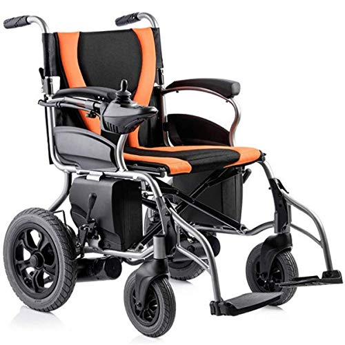 Great Deal! GJNWRQCY Elderly Disabled Folding Electric Wheelchair, Lightweight All Terrain Power Sco...