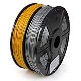 WYZworks PLA 1.75mm 2 Colors/Dual (Silver & Gold) Premium 3D Printer Filament - Dimensional Accuracy +/- 0.05mm 1kg / 2.2lb + [ Multiple Color Options Available ]