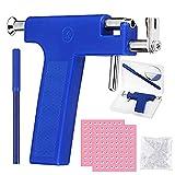 Pistola para piercing de oreja, 6 unidades, herramienta con pendientes para Asepsis Piercing Kit de Oreja con Algodón Alcohol