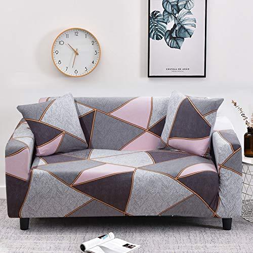 WXQY Fundas geométricas elásticas Antideslizantes para sofá Funda para sofá para Mascotas Esquina en Forma de L Funda para sofá Antideslizante A1 3 plazas