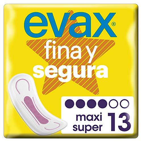 Evax Fina y Segura Super/Maxi Compresas - 13 Unidades