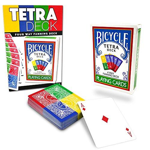Magic Makers Tetra Deck, 4 Way Fanning Deck, Bicycle