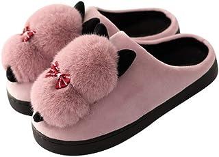 Unisex Cute Cartoon Cozy Memory Foam Slippers With Fuzzy Plush Wool-Like Lining