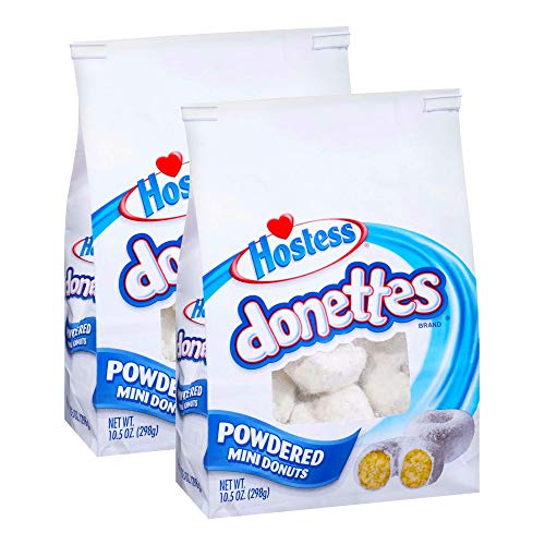 Hostess Donettes, Mini Donuts (Pack of 2) (Powdered)