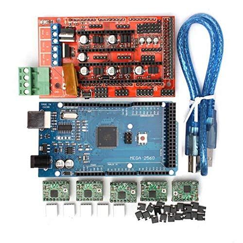 Yongenee MEGA2560 R3 + RAMPS 1.4 Control Board + A4988-Treiber mit Heat Sink 3D-Drucker Mainboard Kit
