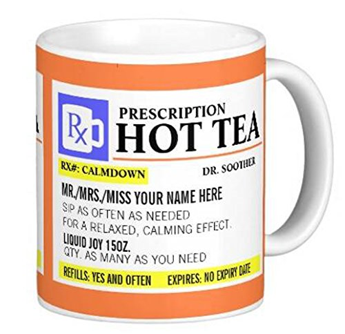 LVSURE mugs Funny Prescription Hot Tea Mug - Tea Mug Coffee Cup - Gift - Customize mug