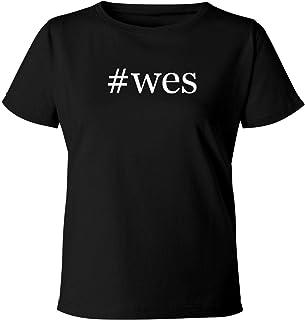 #wes - Women's Soft & Comfortable Hashtag Misses Cut T-Shirt