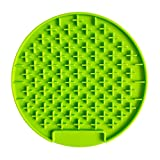 DDog Lick Pad Slow Feeders Distraction Device Training-Just Add Peanut Butter Dogs Buddy for Pet BathingGrooming Calming (Green)