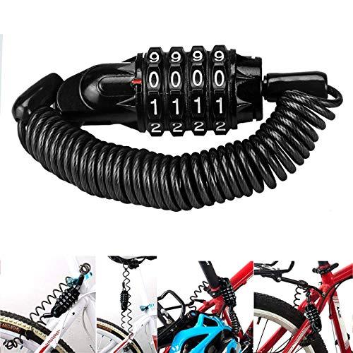 Magiin Mini Candado de Bicicleta Portátil Bloqueo de Cable de Bicicleta Antirrobo...
