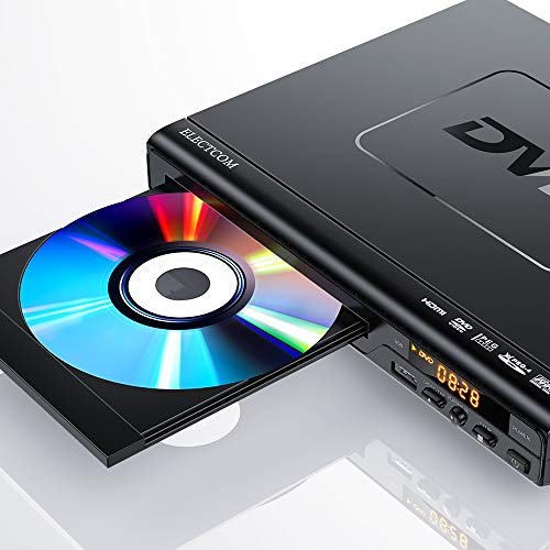 DVD Player, ELECTCOM DVD Players for TV with HDMI, Mini DVD Player for Smart TV, Region Free DVD Player USB