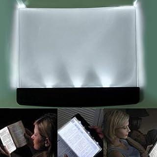 HAIMEN Flat Reading Light - LED Light Wedge Eyes Protect Panel Book Reading Lamp, Battery Wireless Book Night Vision LED Panel Lamp Reading Fashion Portable Book Light for Reading in Bed