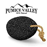 Pumice Stone - Natural Earth Lava Pumice Stone Black - Callus Remover for Feet Heels and Palm -...