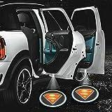 ZOZ 2pcs Wireless No Drill Type LED Laser Car Door Light Welcome Projector Light...