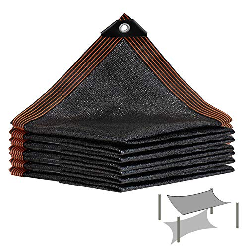 LKLXJ Shade Sail Rectangle, Sunscreen Shade Netting, Black Dust-proof Shade Sails, Greenhouse, Four Corner Reinforcement, Animal House, Car Cool Area, Awning For Outdoor Permeable