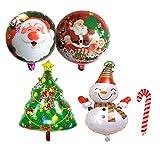 Seilent - Globos de Navidad grandes para decoración de árbol de Navidad (5 unidades), diseño de muñeco de nieve