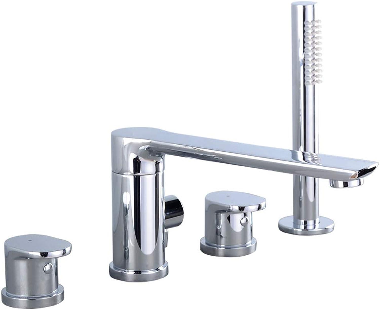 OrzXin Waschbecken mischer, mischer Wasserhahn badewanne Wasserhahn Set, Bad dusche Bad Armatur,B
