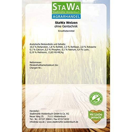 StaWa Weizen, Geflügelfutter, Hühnerfutter, !!Mühlenqualität!! 25 kg GVO – frei - 2