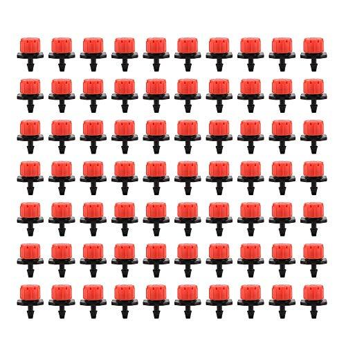 150 Goteros de Riego Ajustables con Micro Gota,Micro Riego por Goteo Aspersores de Riego AutomáTico, Ajustable JardineríA Flujo de Goteo Cabeza de Goteo,Para Riego Por Goteo de Parterres Y Plantas.