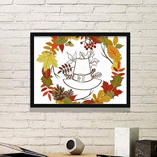 DIYthinker slinger Thanksgiving dag blad patroon eenvoudige fotolijst kunst drukt schilderijen thuis muursticker cadeau