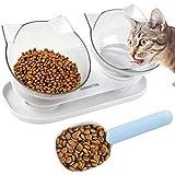 Dorakitten Cat Food Bowls Double...