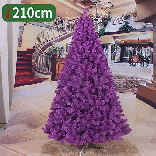 JRMU 7 Ft PVC Purple Christmas Tree Unlit, 210cm, Premium Artificial Hinged...